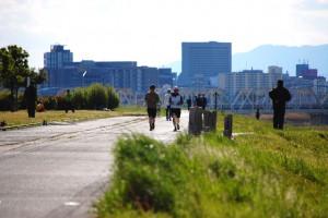 河原ジョギング